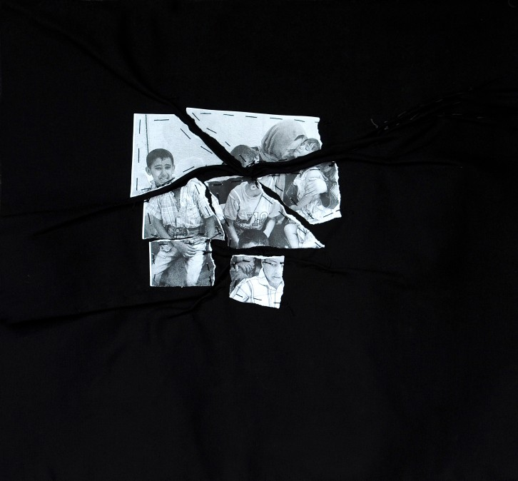 Sewn Photographs, 2012, 50/60 cm
