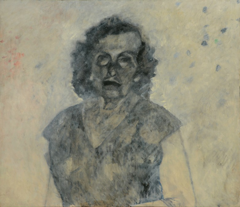 My Mother's Blue Eyes, 1989, oil on wood board, 105/122 cm