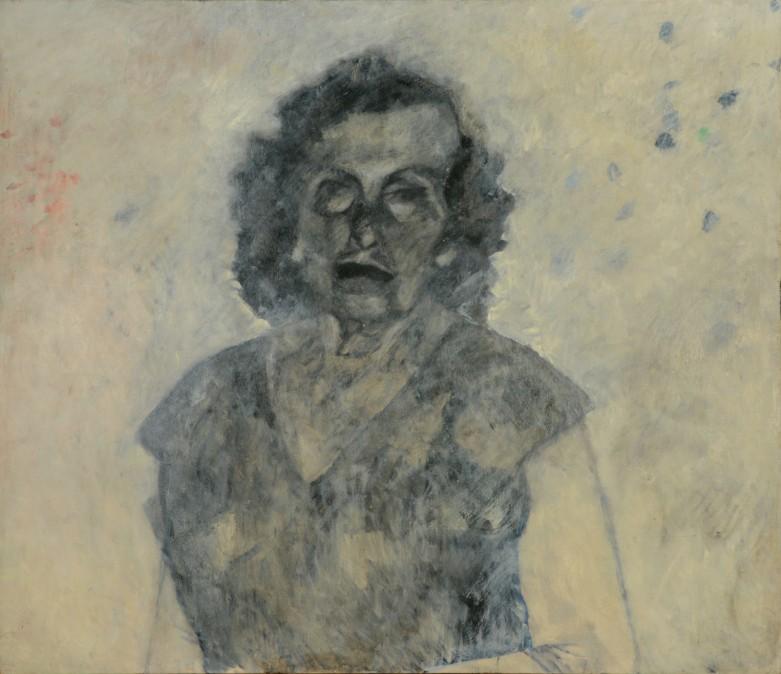 My Mother's Blue Eyes, 1989, oil on wood board, 105/122 cm