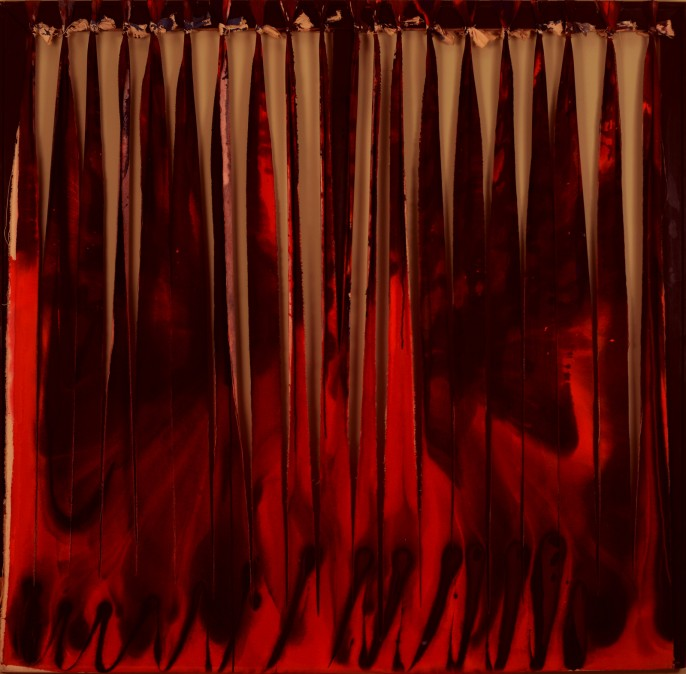 Torn Work, 1996, acrylic on canvas, 142/145 cm
