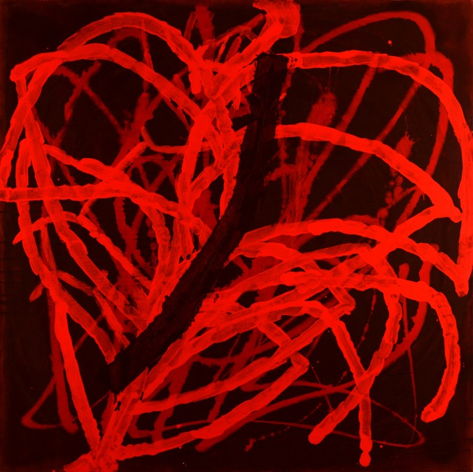 Wound, 1997, acrylic on canvas, 140/140 cm